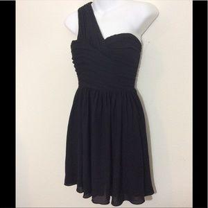 Express One shoulder black dress size 0